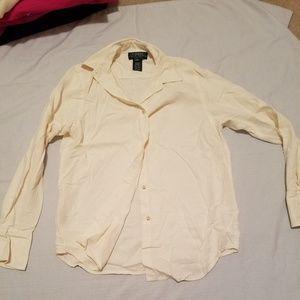 100% Silk Ralph Lauren button up shirt